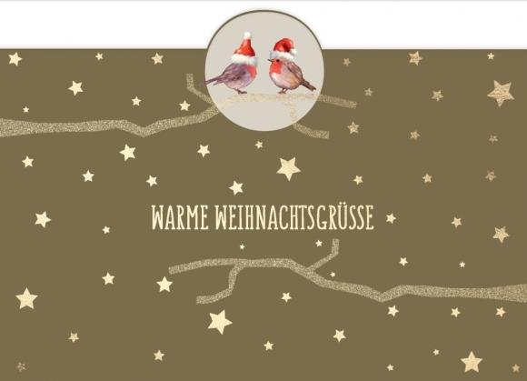 Postkarte: Warme Weihnachtsgrüße