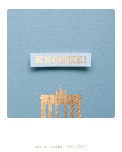 Postkarte: Knorke!