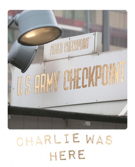 Postkarte: Charlie was here