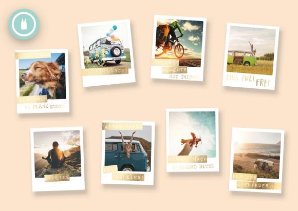 on tour * Set 8 Postkarten