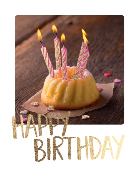 Mini-Postkarte: Happy Birthday