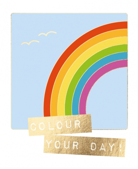 Postkarte: Colour your day!