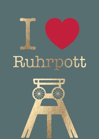 Postkarte: I love Ruhrpott