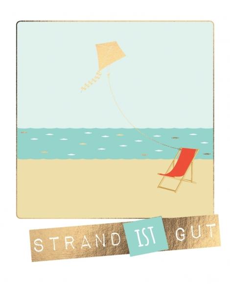 Postkarte: Strand ist gut