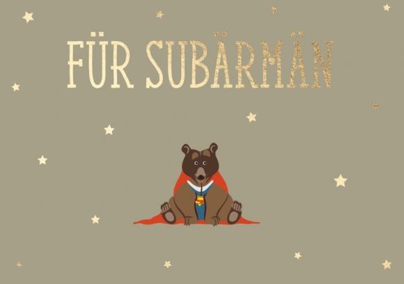 Doppelkarte: Für SuBärMän