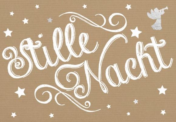 Doppelkarte: Stille Nacht - Engel mit Laute