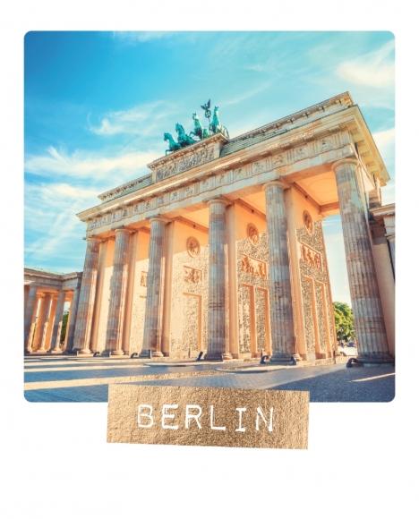 Postkarte: Berlin Brandenburger Tor