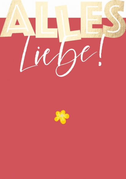 Postkarte: Alles Liebe!