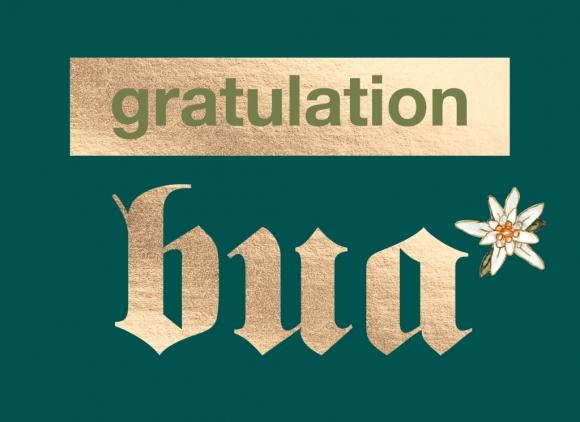 Doppelkarte: gratulation bua