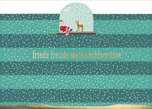 Postkarte: Friede Freude Weihnachtsgrüße