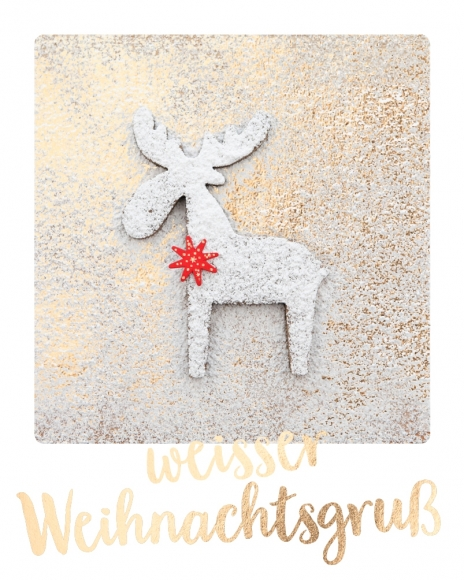 Mini-Postkarte: weisser Weihnachtsgruß