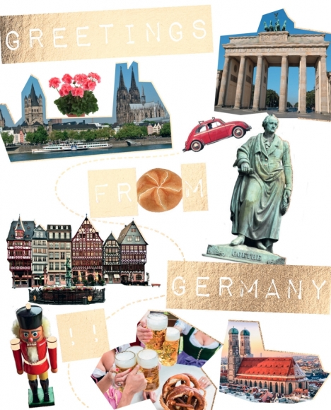 Postkarte: Greetings from Germany!!