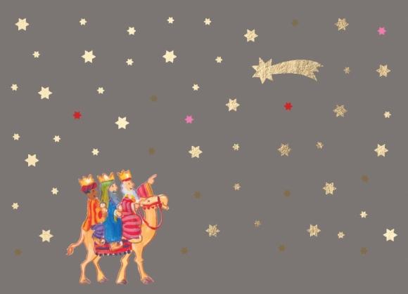 Mini-Doppelkarte: Heilige 3 Könige