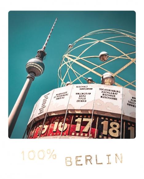 Postkarte: 100% Berlin