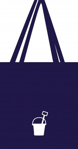 Tasche Schaufel und Eimer