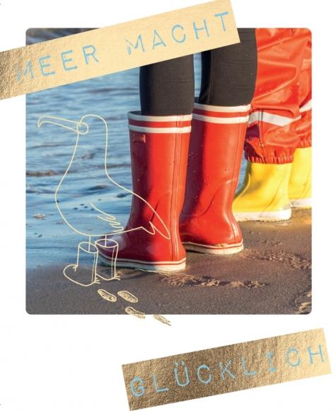 Postkarte: Meer macht glücklich