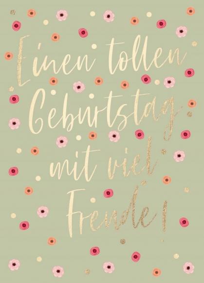 Postkarte: Einen tollen Geburtstag mit viel Freude