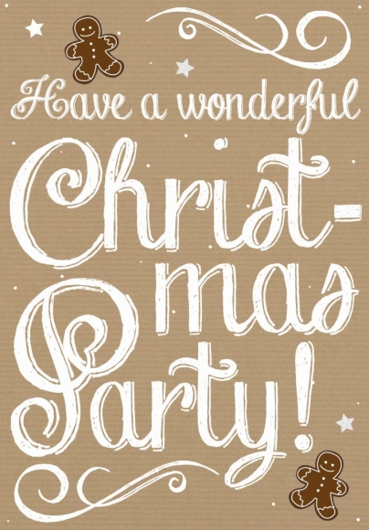 Doppelkarte: Have a wonderful christmas party!