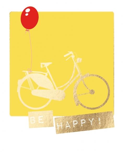 Postkarte: Be happy!