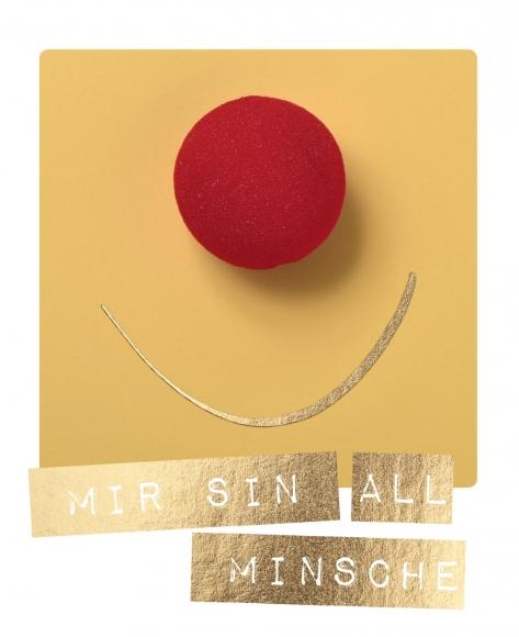 Postkarte: Mir sin all Minsche