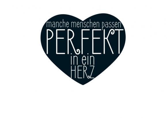Postkarte: Manche Menschen passen perfekt in ein Herz