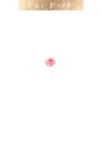 Postkarte: Für Dich - Rose
