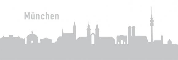 Autoaufkleber München Skyline silber