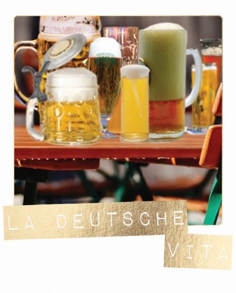 Postkarte: La deutsche Vita