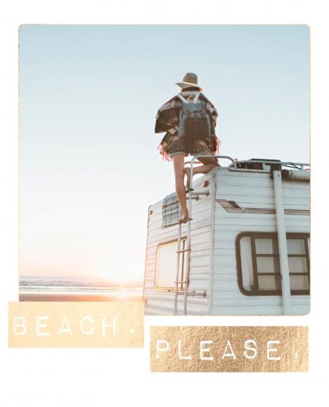 Postkarte: Beach. Please.