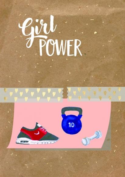 Postkarte: Girl power