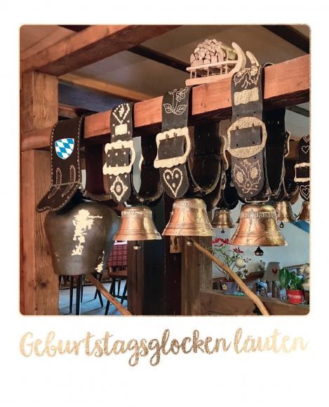 Postkarte: Geburtstagsglocken läuten - Bayern