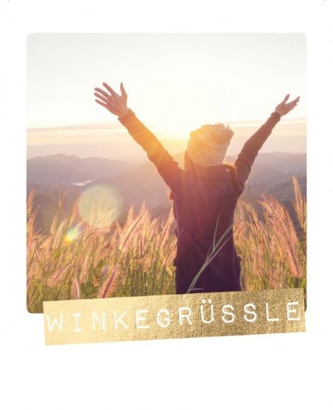 Postkarte: Winkegrüssle