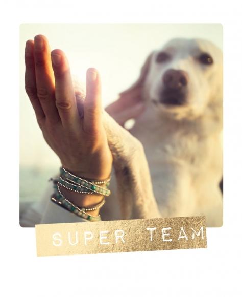 Postkarte: Super Team