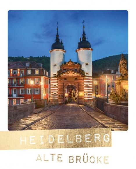 Postkarte: Heidelberg Alte Brücke