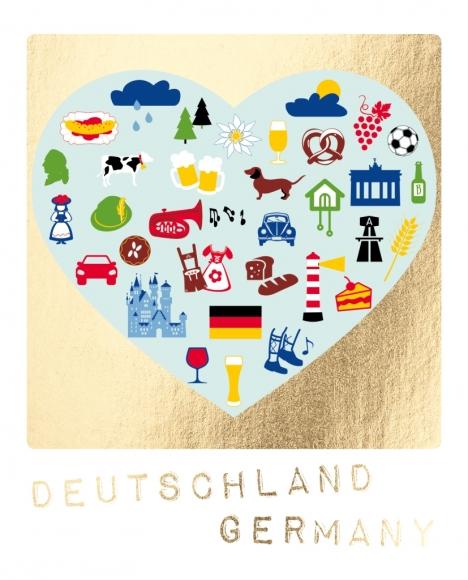 Postkarte:Germany - Elemente-Herz