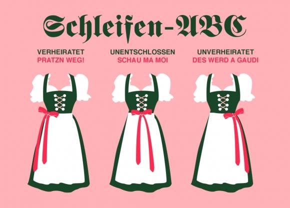 Postkarte: Schleifen-ABC
