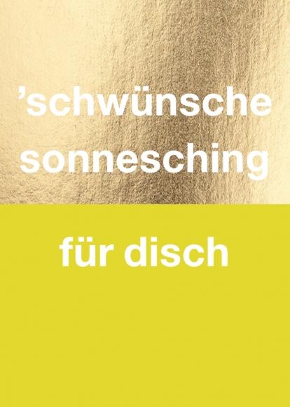Postkarte: 'schwünsche sonnesching für disch