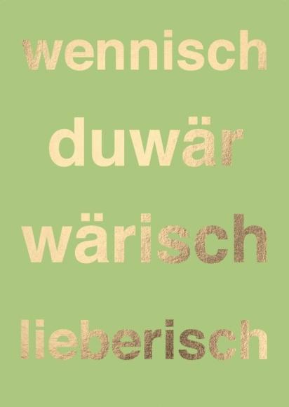 Postkarte: wennischduwärwärischlieberisch