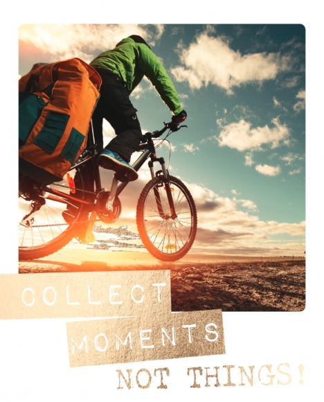Postkarte: Collect moments, not things