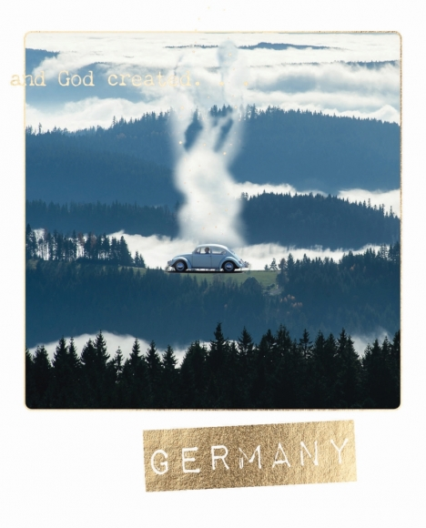 Postkarte: and God created Germany.