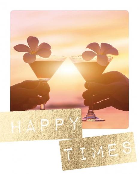 Mini-Postkarte: Happy times