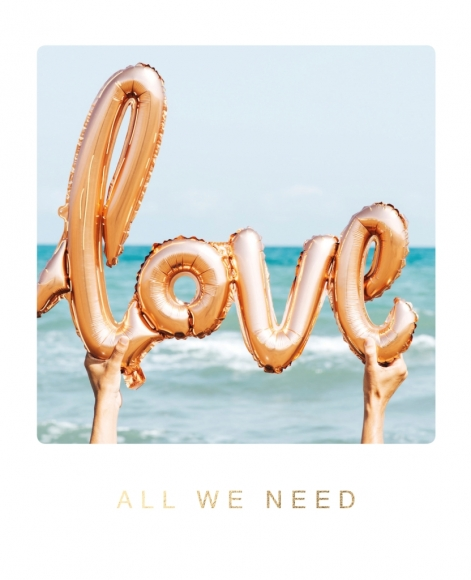 Postkarte: Love ... All we need