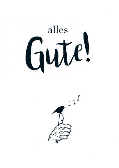 Postkarte: alles Gute!