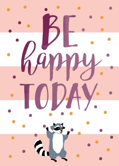 Midi-Doppelkarte: Be happy today