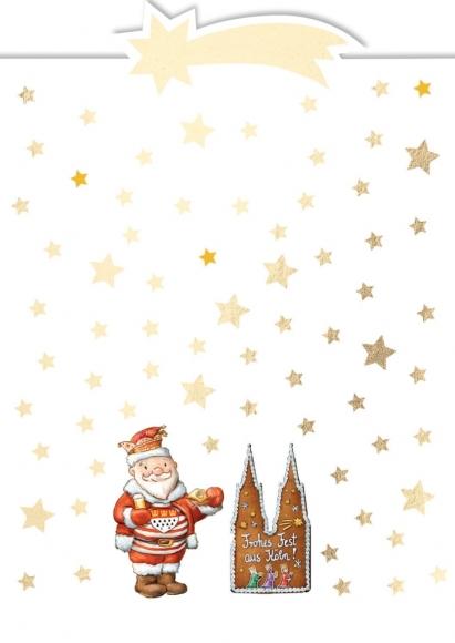 Postkarte: Frohes Fest aus Köln - Weihnachtsjeck