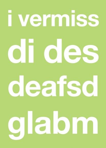 Postkarte: i vermiss di des deafsd glabm