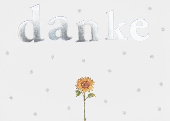 Doppelkarte: Danke! Sonnenblume