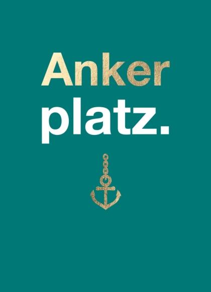 Postkarte: Ankerplatz