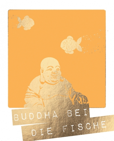 Postkarte: Buddha bei die Fische