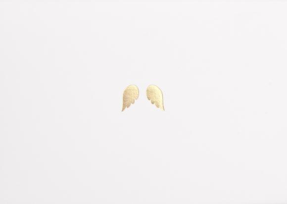 Doppelkarte: Flügel in Gold